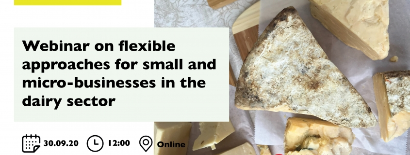 Webinar on flexible approaches for small and micro-businesses in the dairy sector