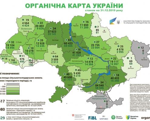 Органічна карта України 2019